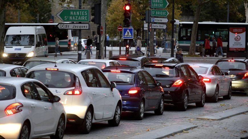 Embouteillage à Rennes.