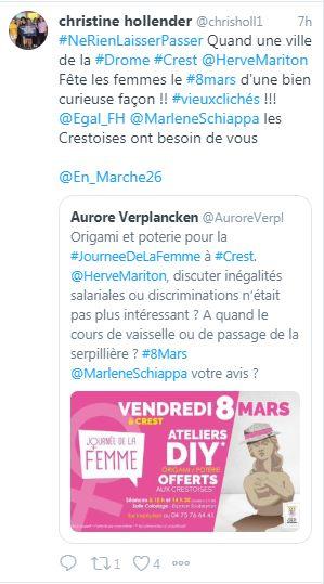 Sur Twitter, des internautes interpellent Marlène Schiappa, la secrétaire d'Etat chargée de l'égalité entre les femmes et les hommes.
