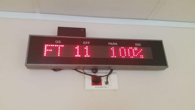 Quand le chiffre 100% se met à clignoter, cela veut dire que le 115 est saturé