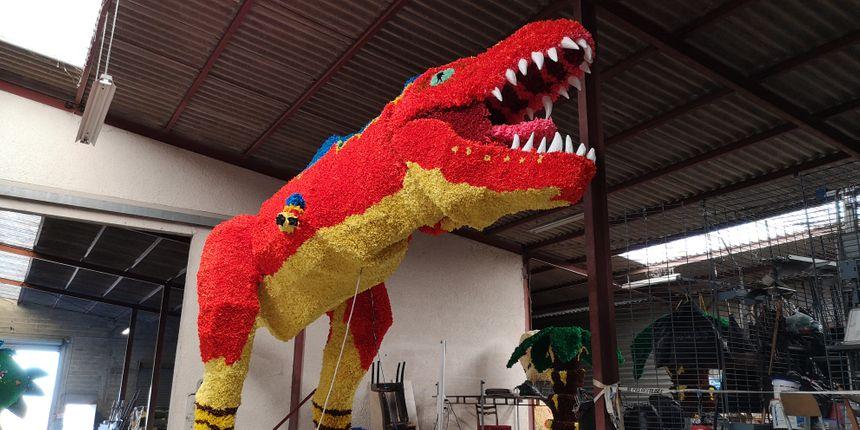 Le groupe des AJT a trouvé l'inspiration dans le jurassique, avec ce superbe tyrannosaure
