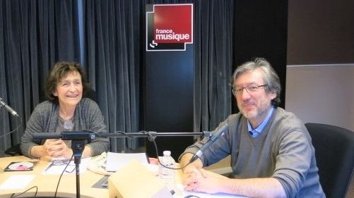 France Musique, studio 131... La compositrice Graciane Finzi & Arnaud Merlin, producteur de l'émission