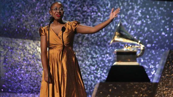 Cécile McLorin Salvant sur la scène de la 61e cérémonie des Grammy Awards