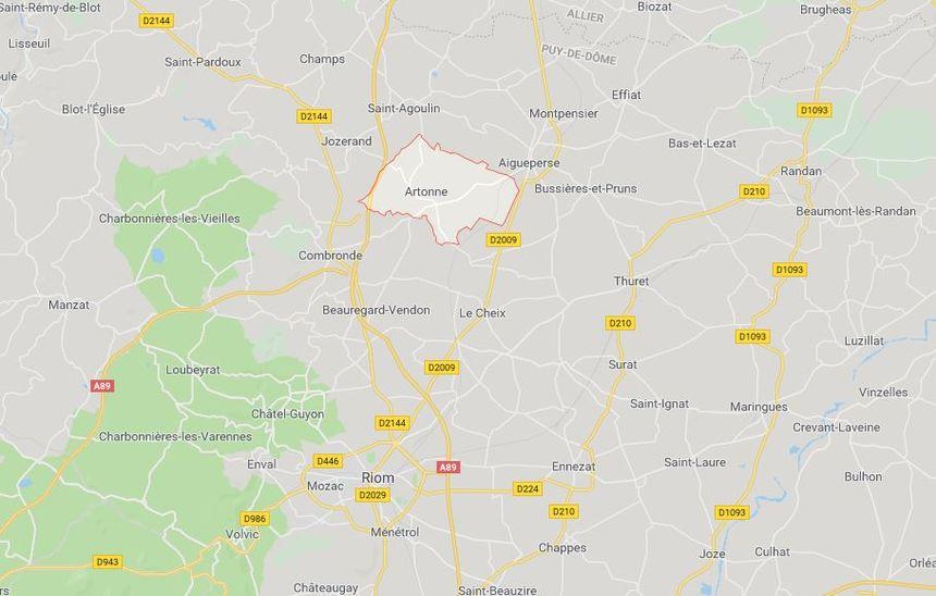 Artonne se situe dans le nord du Puy-de-Dôme