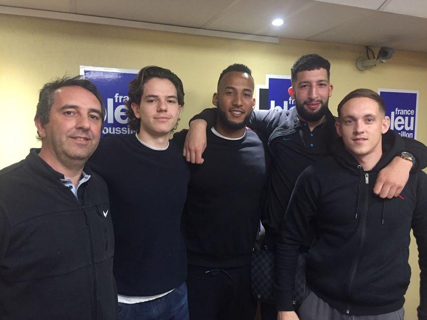 Les basketteurs de Toulouges à France Bleu Roussillon
