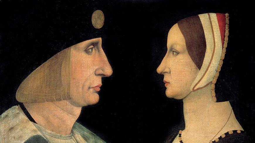 Portrait de Louis XII (1462-1515) et Anne de Bretagne (1477-1514). (1462-1515).