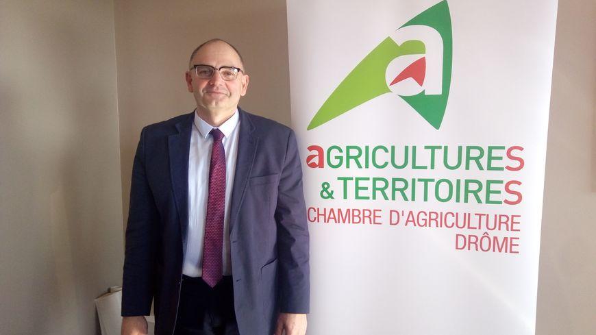 Jean-Pierre Royannez possède une exploitation d'élevage caprin à Alixan, il est le nouveau président de la chambre d'agriculture de la Drôme (2019-2025)