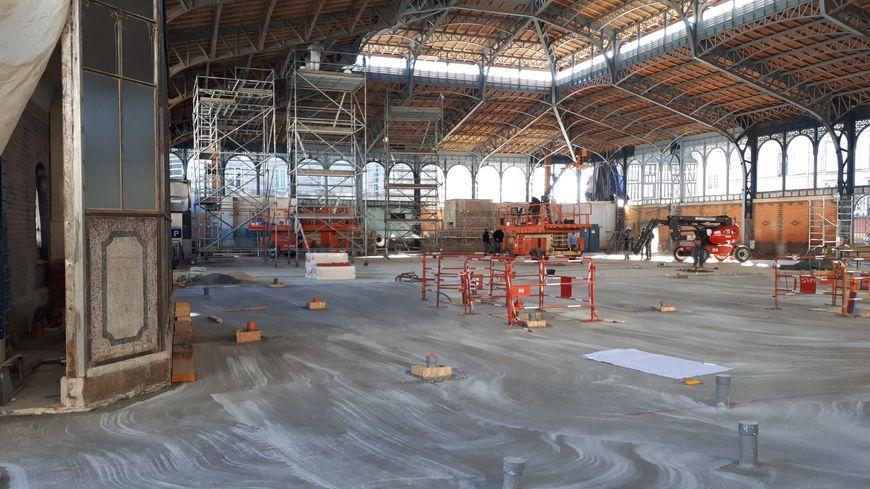 Le chantier de réhabilitation des halles centrales de Limoges, un bâtiment inscrit aux monuments historiques