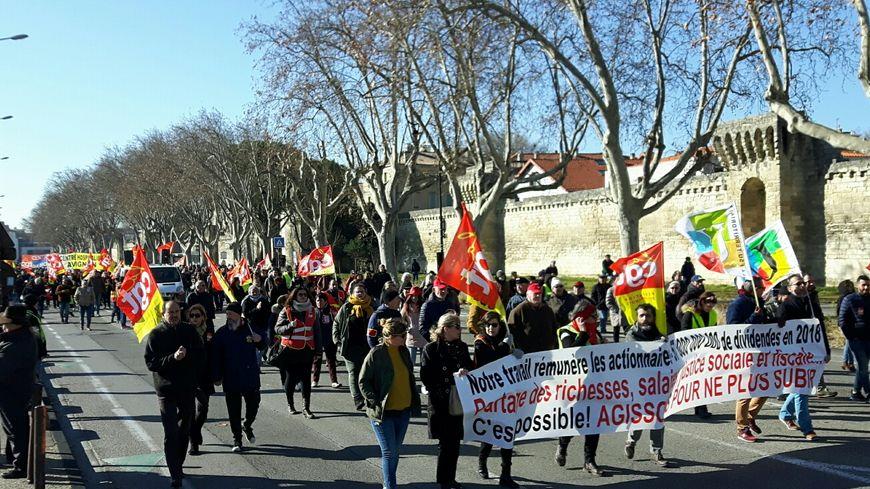 1500 à 2000 manifestants dans les rues d'Avignon ce mardi matin