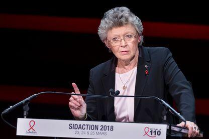 Françoise Barré-Sinoussi, chercheuse en virologie, à la soirée de lancement au musée du quai Branly de l'édition 2018 du Sidaction