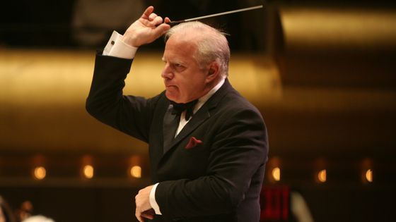 New York Philharmonic and Louisiana Philharmonic Orchestra present 'Bringing Back The Music: A Benefit Concert' at Avery Fisher Hall on Friday night, October 28, 2005.This image:Leonard Slatkin.