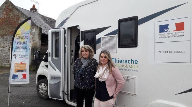 Un bus de service public itinérant - en fait un camping-car - circule depuis début 2017 dans le département de l'Aisne