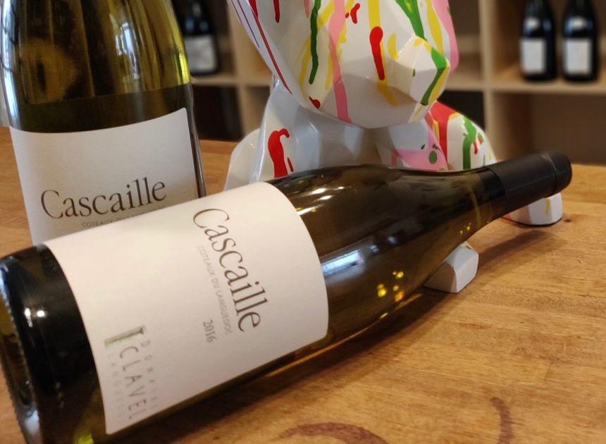 La cuvée Cascaille, c'est une petite production de vin blanc du Languedoc, sur le terroir de la Méjanelle