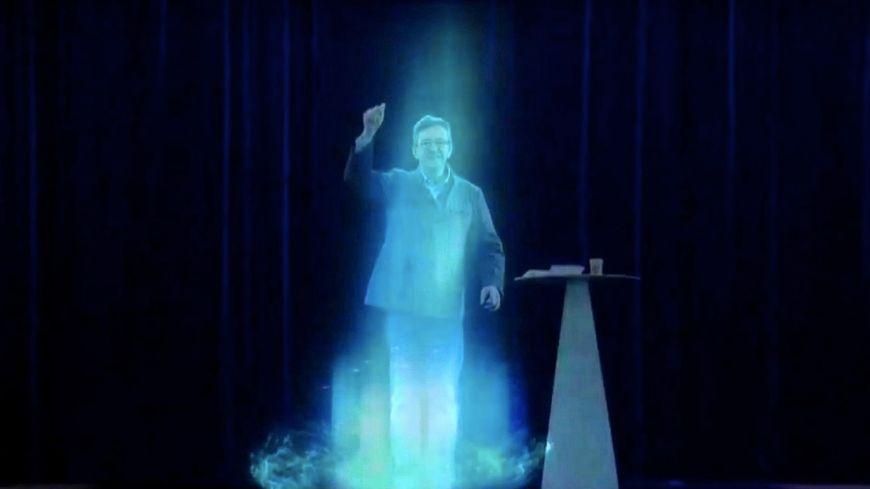 L'hologramme de Jean-Luc Mélenchon