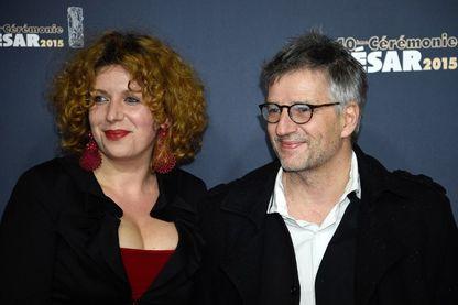 Baya Kasmi et Michel Leclerc, scénaristes et réalisateurs, lors de la 40ème cérémonie des César 2015