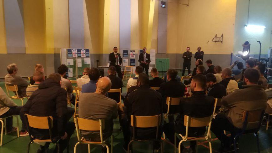 Grand débat à la maison d'arrêt d'Amiens (Somme) le 13 mars 2019.