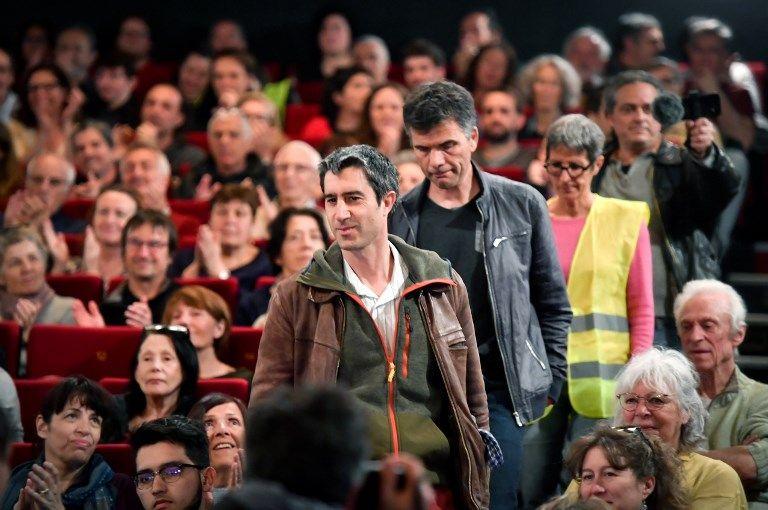 Un livre, un film (ici présenté au théâtre Toursky à Marseille, le 2 mars 2019), des vidéos virales : François Ruffin tente de mobiliser au-delà des militants des partis politiques.