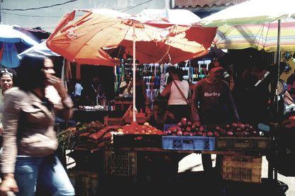 Sur un marché de Caracas