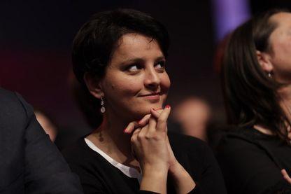 Najat Vallaud-Belkacem (ex-ministre de l'Education), au Congrès du Parti Socialiste, le 08 avril 2018 à Aubervilliers.