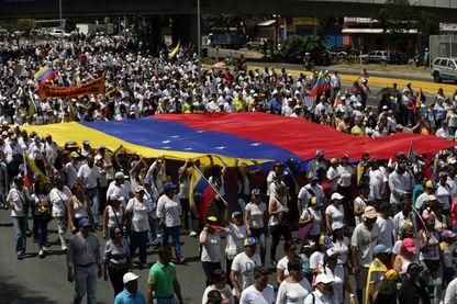 Manifestation en faveur de Juan Guaido le 23 février à Caracas