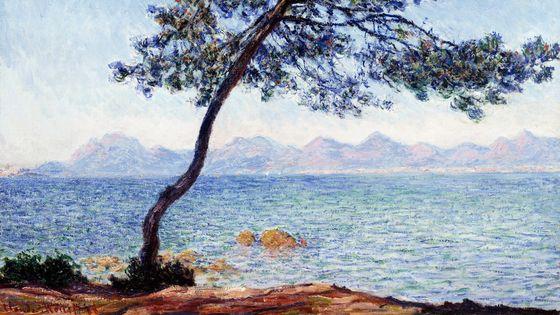Antibes (1888), peinture de Claude Monet (détail)