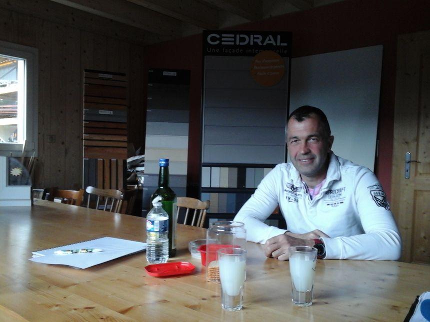 Cyril Drezet, patron de Triobois, une entreprise bien dans son décor.