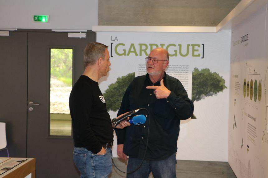dans le Musée de la Maison des Gorges du Gardon avec Patrice  Hurlin