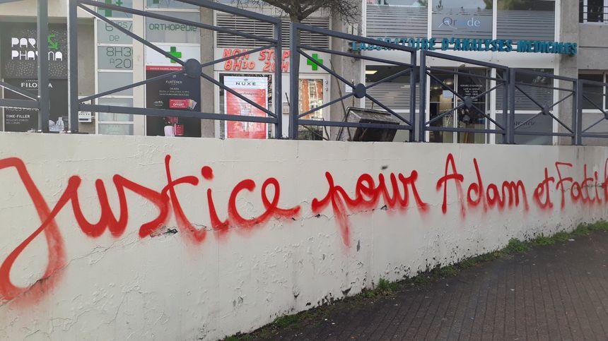 Un des nombreux graffitis, que l'on peut voir dans Grenoble