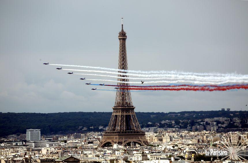 Avec la Patrouille de France un 14 juillet.