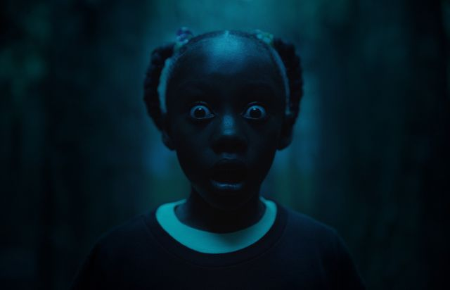 "Madison Curry, sur le tournage de ""Us"" de Jordan Peele (thriller horrifique, sortie en France le 20 mars 2019)"