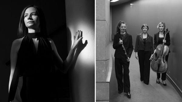 """"""" T.E.R.R.A """" pour flûte, violoncelle et harpe de Nina Senk (Diff intégrale et portrait de la compositrice)"""