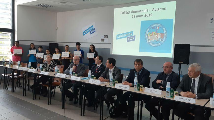 """""""Génération 2024"""" au collège Roumanille d'Avignon"""