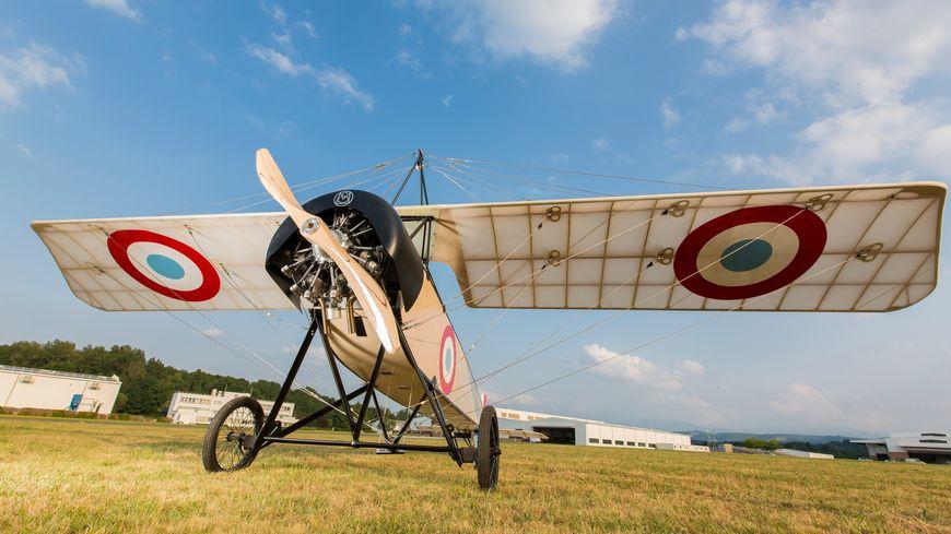 """Ce Morane-Saulnier """"Type L"""" , ici en exposition, n'a plus volé depuis un siècle."""