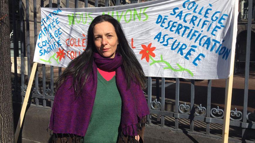Marie Chassaigne, membre du collectif de défense des collèges ruraux d'Auvergne