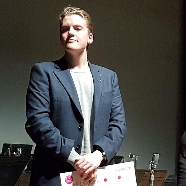 Joel Järventausta au moment e la remise du Prix