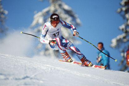 Franck Piccard, skieur alpin français, premier champion olympique de super-G (Jeux Olympiques d'Hiver, 1994, Lillehammer, Norvège)