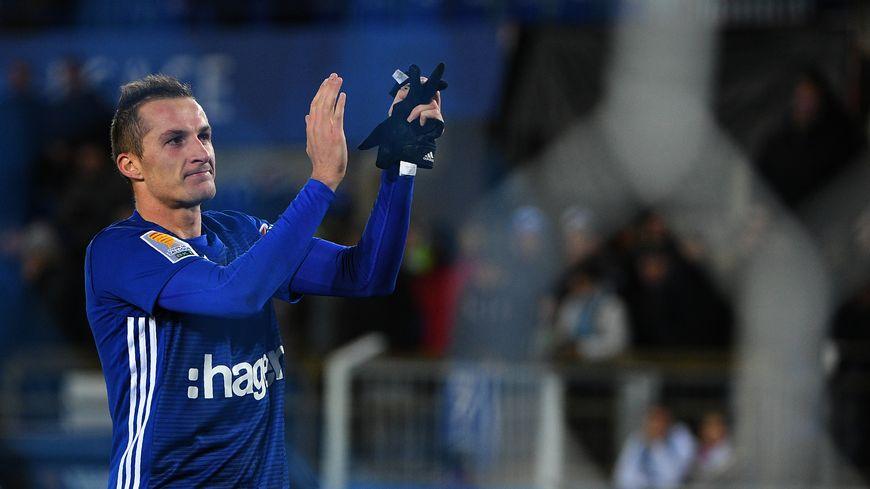 Dimitri Liénard après l'élimination de Lille en 16e de finale de la coupe de la Ligue en octobre 2018.