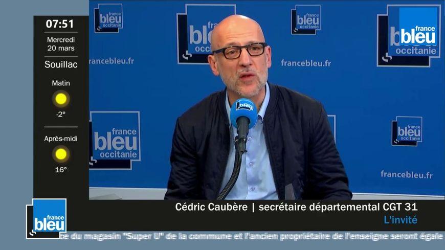 Cédric Caubére, le secrétaire général de la CGT 31 lance un appel à manifester Place du Capitole