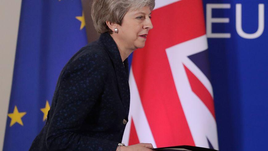 Theresa May au sommet de Bruxelles, jeudi 21 mars 2019