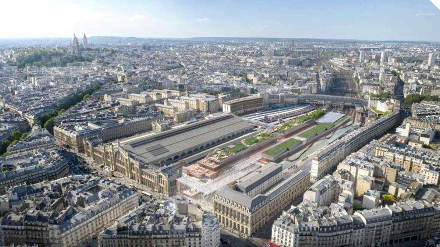 Le projet Gare du Nord 2024 prévoit la création de 5 niveaux au-dessus du hall des départs qui accueilleront des activités commerciales, culturelles, sportives et de co-working.