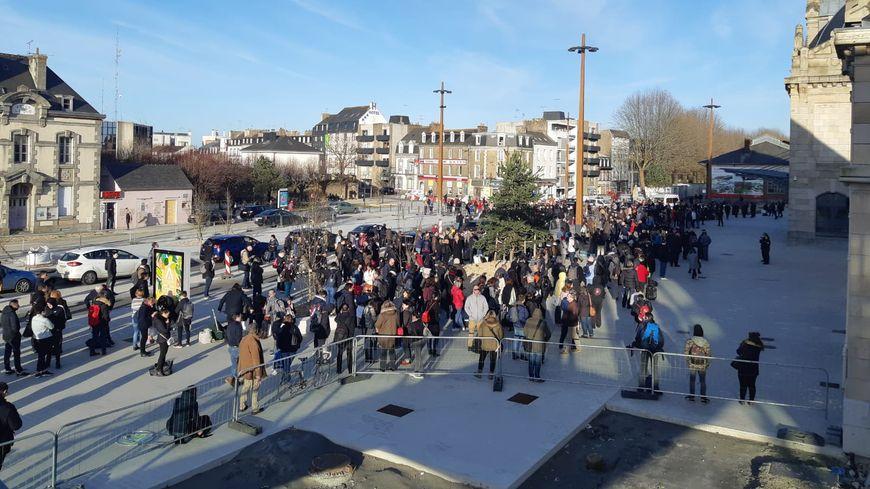 La gare de Saint-Brieuc a du être évacuée ce lundi vers 17h