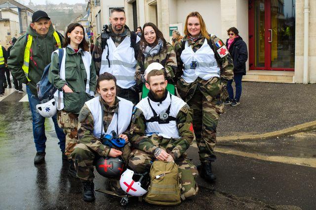 L'équipe des street medics à Bar-le-Duc, Meuse, mars 2019.