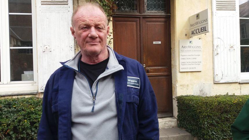 Laurent Trudel, délégué CGT sur le site Arjowiggins de Bessé-sur-Braye (Sarthe). 12 mars 2019.