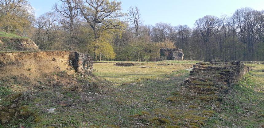 Les ruines du temple gallo-romain de Mars Mullo, premier sujet d'étude du Capra.