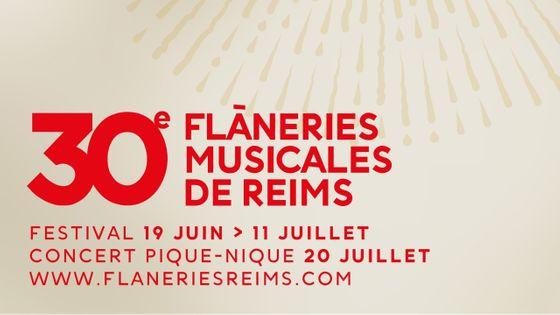 affiche des 30 ans des Flâneries Musicales de Reims (détail)