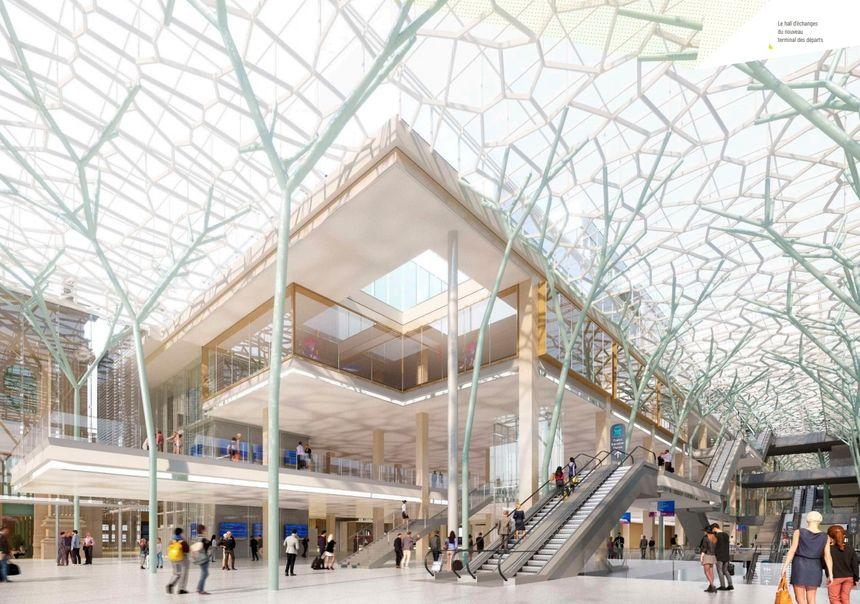 La surface de la gare va tripler d'ici 2024 par rapport à la surface actuelle.