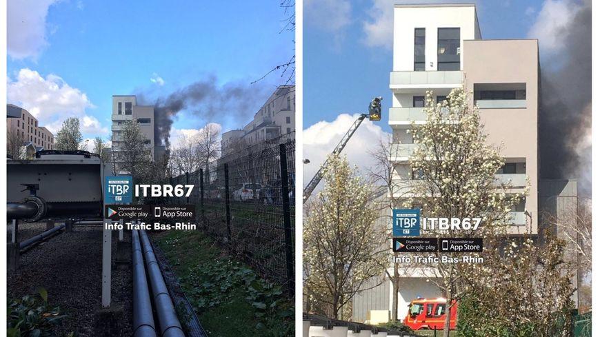 L'incendie s'est déclaré dans un immeuble du quartier de Cronenbourg à Strasbourg.