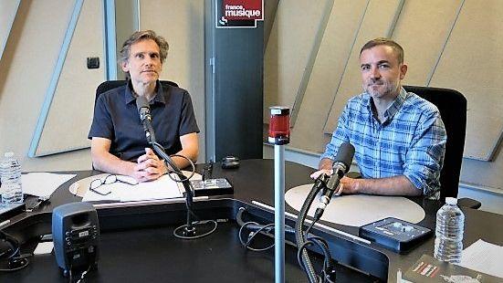 France Musique, studio 152... Philippe Venturini & Timothée Picard (g. à d.)