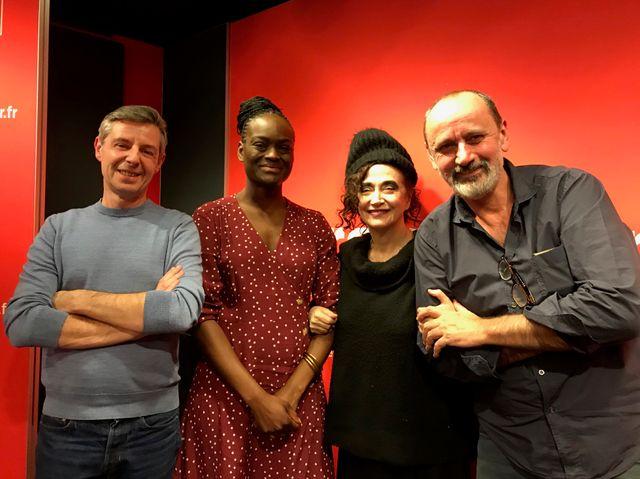 """Vous Les Femmes"", de g. à d. : Anthony Bellanger. Aya Cissoko. Sapho. Daniel Morin"