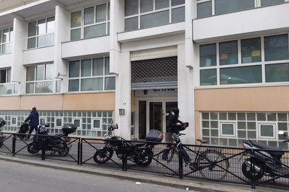 L'entrée de l'école Chné-Or, à Aubervilliers