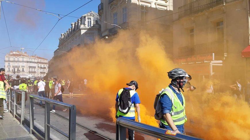 À Montpellier, la situation s'est tendue dès 16 heures dans le centre-ville.